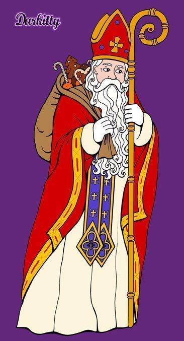 St nicolas - Saint nicolas dessin couleur ...